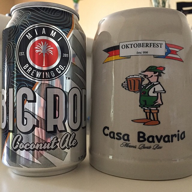 Miami Brewing Big Rod Coconut Ale vía @ramonjdejesus en Instagram