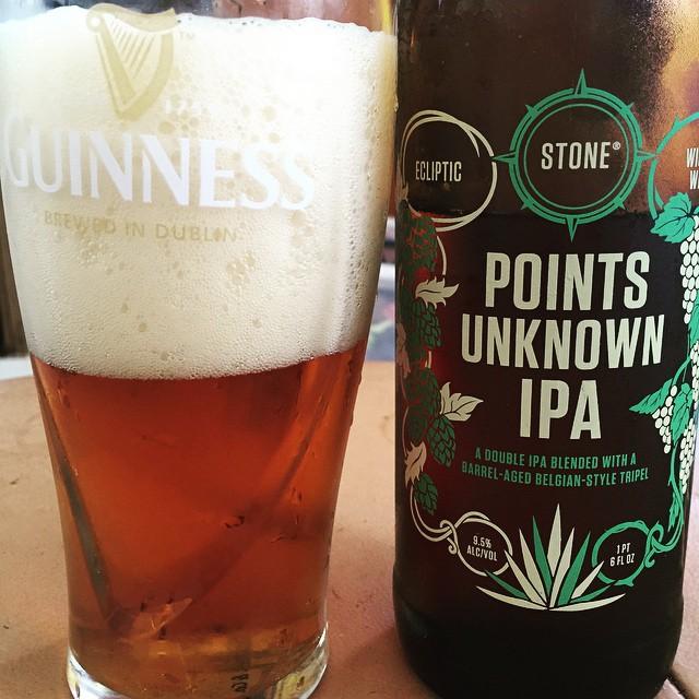 Points Unknown IPA de Stone vía @rachelmgr en Instagram