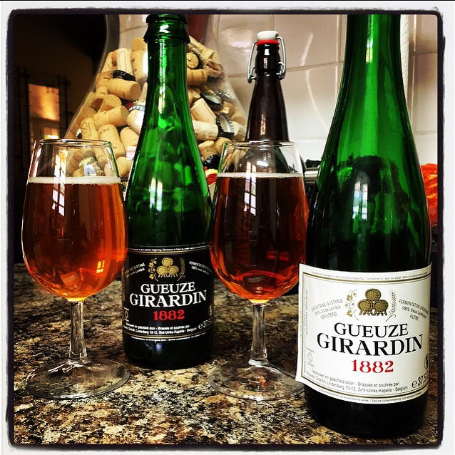 Girardin Gueuze Black and White label vía @thecraftbeergal en Instagram