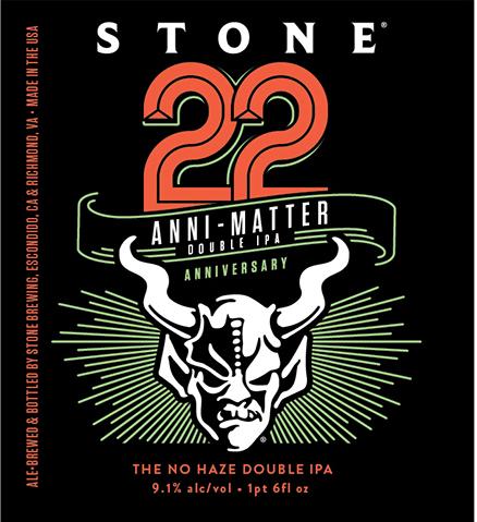 Stone 22nd Anniversary Anni-Matter Double IPA