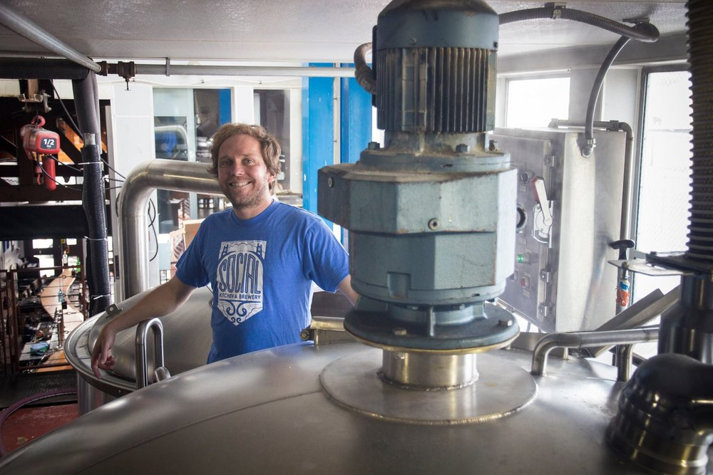 Kim Sturdavant, cervecero de Social Kitchen & Brewery - Foto: Social Kitchen & Brewery