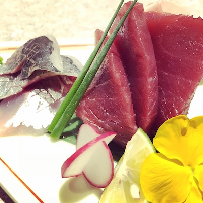 Tai, maguro, mackerel and kampachi sashimi