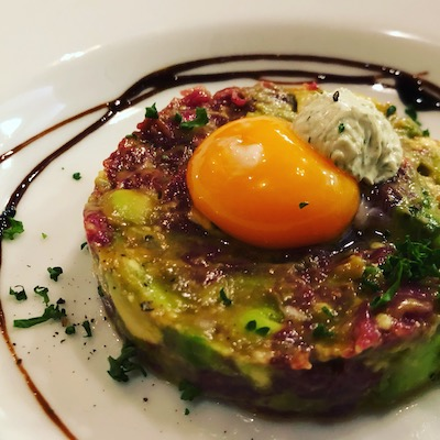 Horse meat and avocado tartare