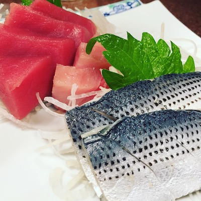 Maguro and kohada sashimi