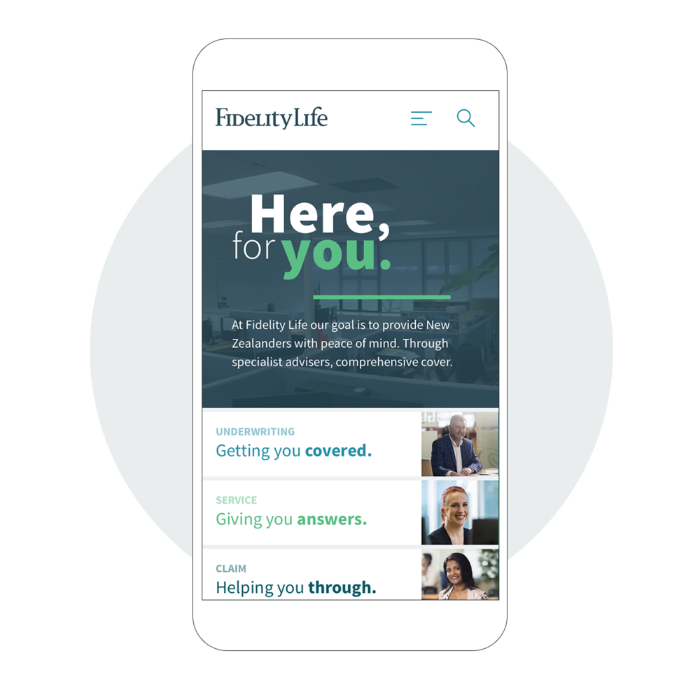 FidelityLife  Website redesign for Insurance company.  View project