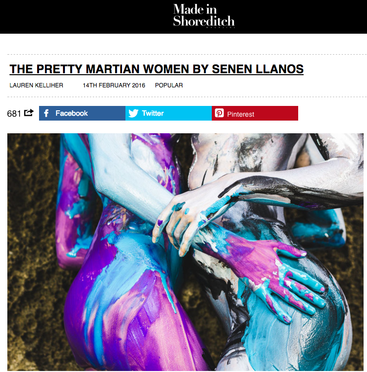 UK publication - Made in Shoreditch article about Pretty Martian Women series