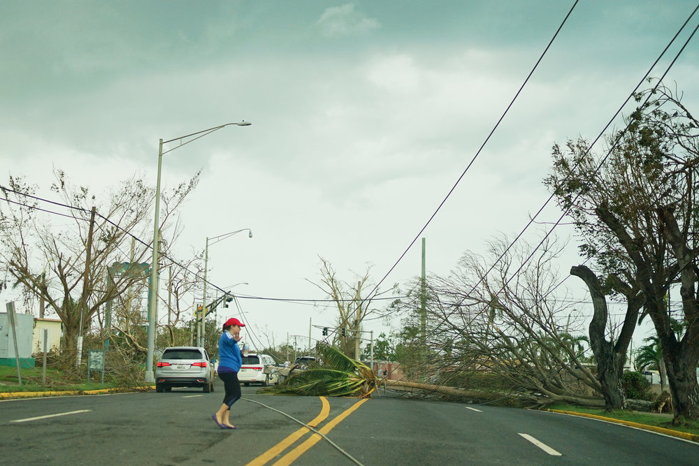 Navigating the roads was nearly impossible, there were brave souls that risked their life to help people move.