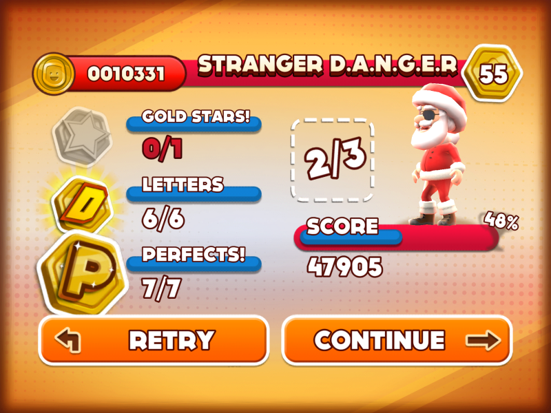 Santa Danger gives more coins, so of course I'm going to use him.