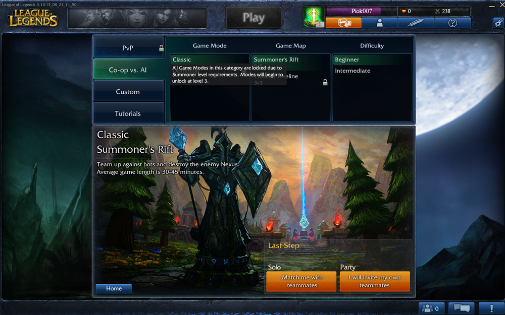 There are a bunch of game modes but PvP on Summoner Rift's is the norm