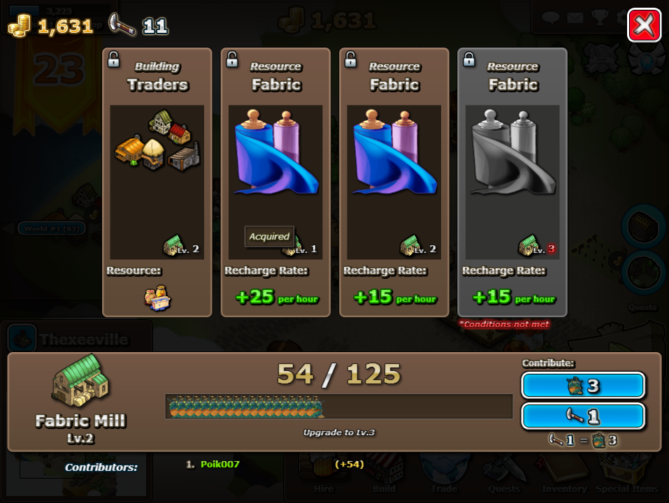 Upgrading can cost hundred of thousands or herbs