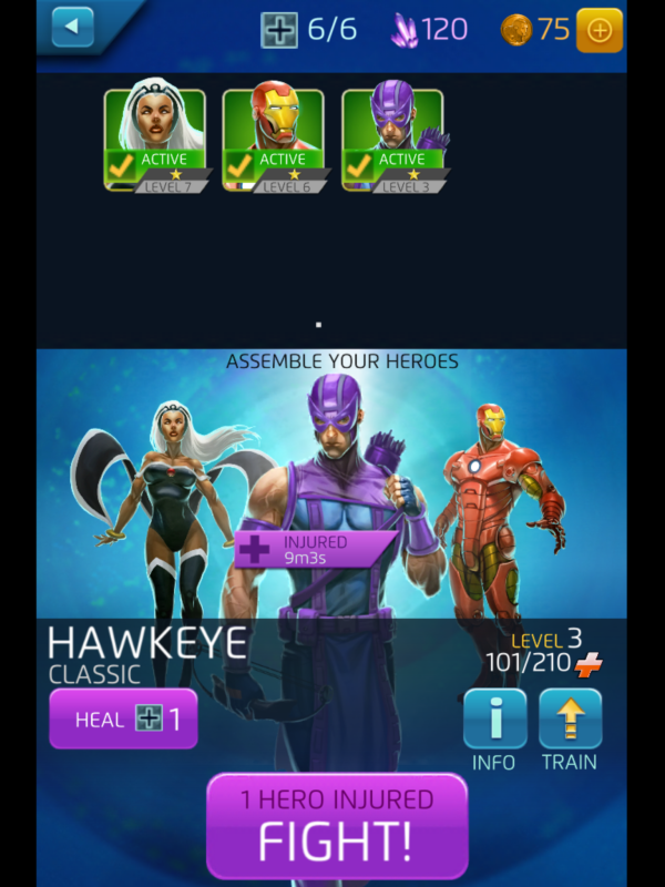 Oh no my hawkeye is damaged!