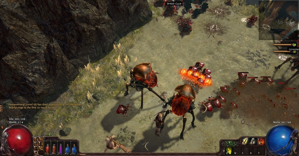 Watch out for these fireballs and these scarab things!