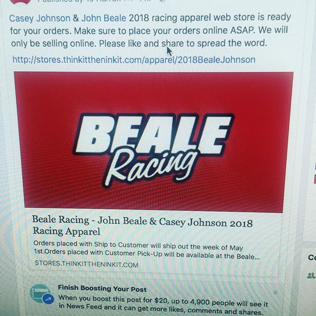 Apparel store for John Beale and Casey Johnson is live! http://stores.thinkittheninkit.com/apparel/2018BealeJohnson