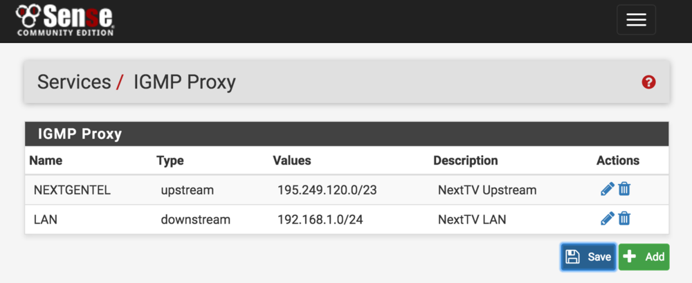 NextTV NextGenTel Fiber TV IGMP Proxy settings