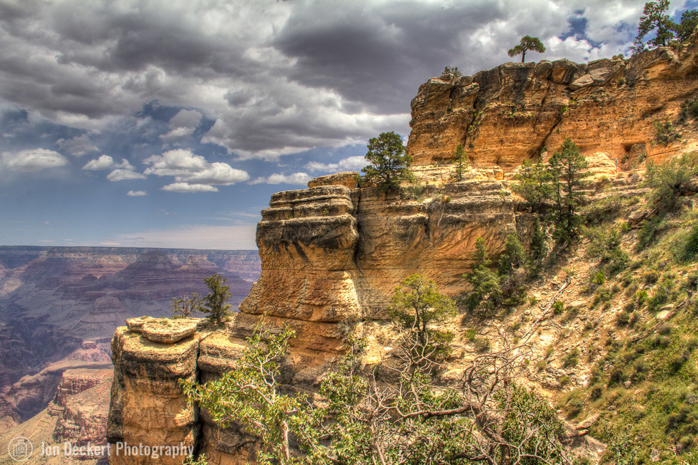 Rock Formations along the Bright Angel Trail (click on photo for larger view)