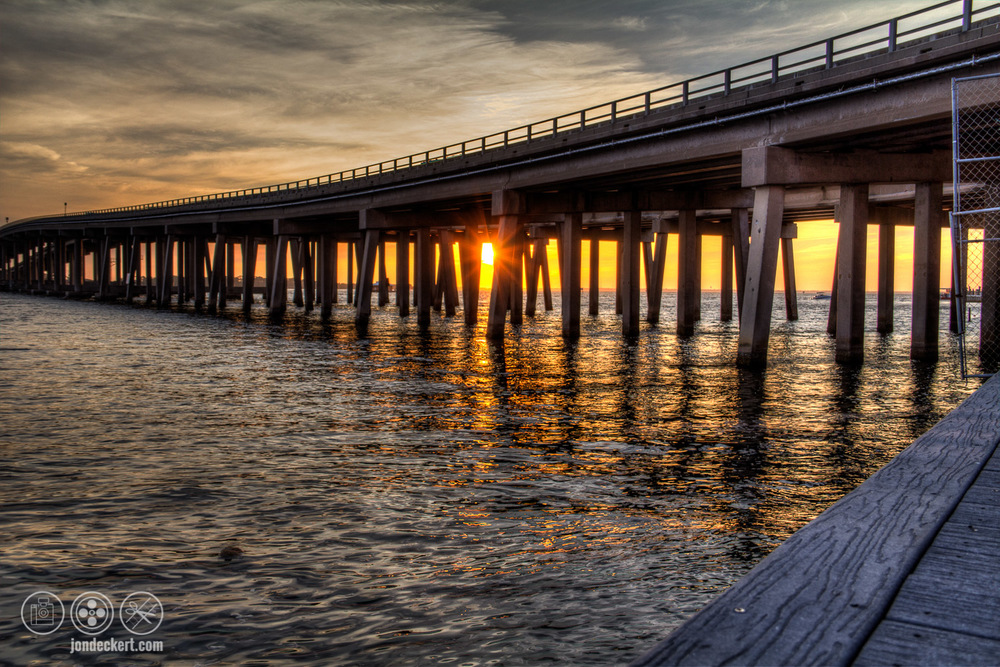 Sunset of the Destin Bridge, Destin Florida