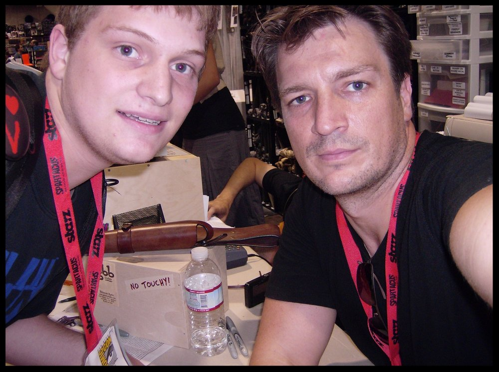 A selfie I snagged with Nathan Fillion at Comic-Con in 2009.