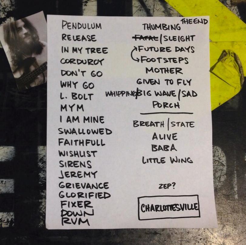 Set list – Oct 29, 2013