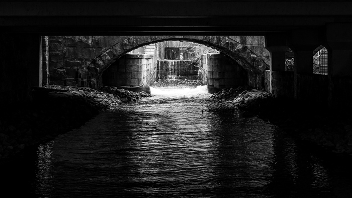 A tunnel along the Canal Walk in Richmond.