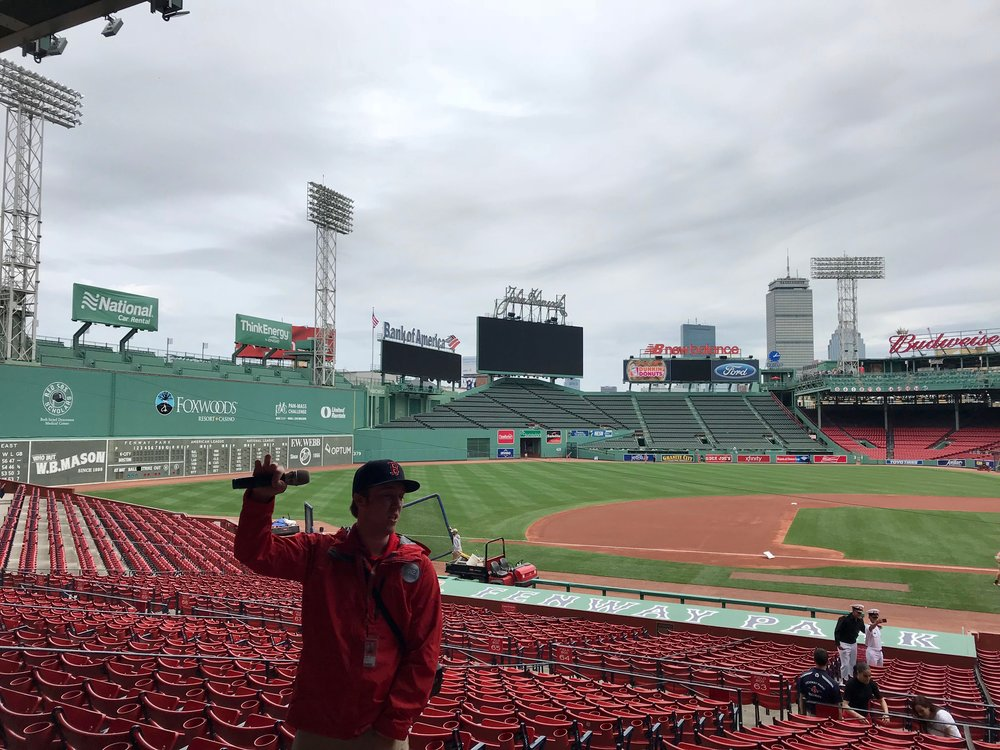 Our Fenway Park tour guide. I have no idea what his name is.
