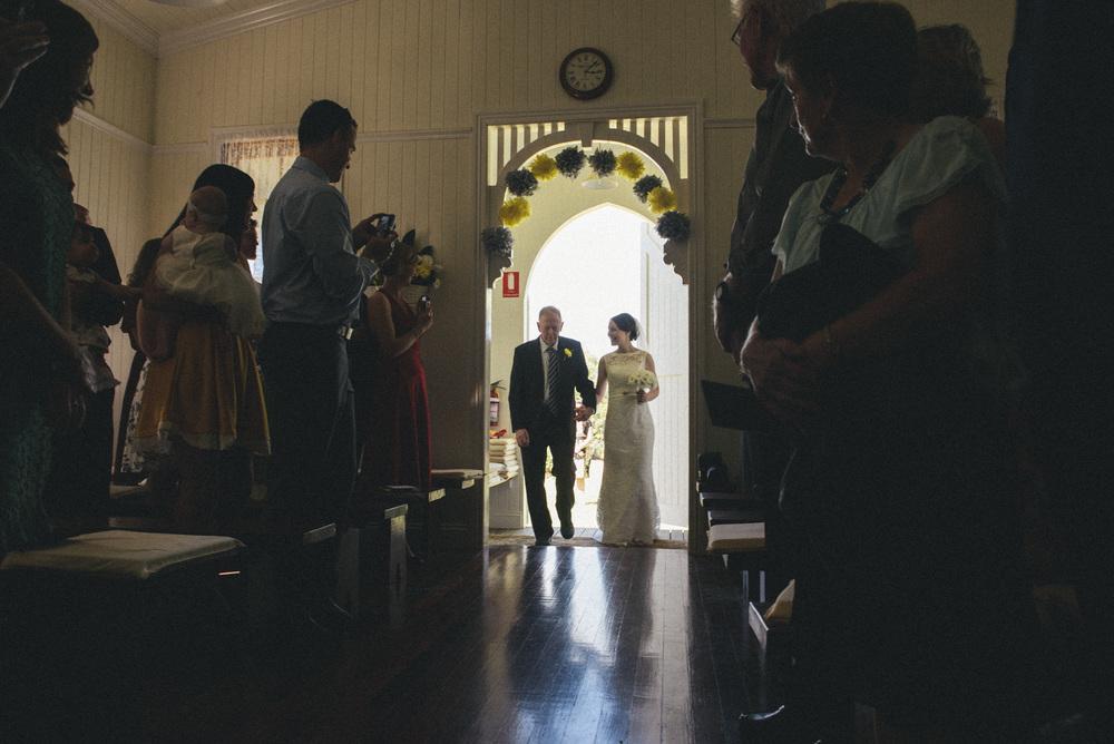 walking down the aisle     brisbane wedding photography     fuschia photography