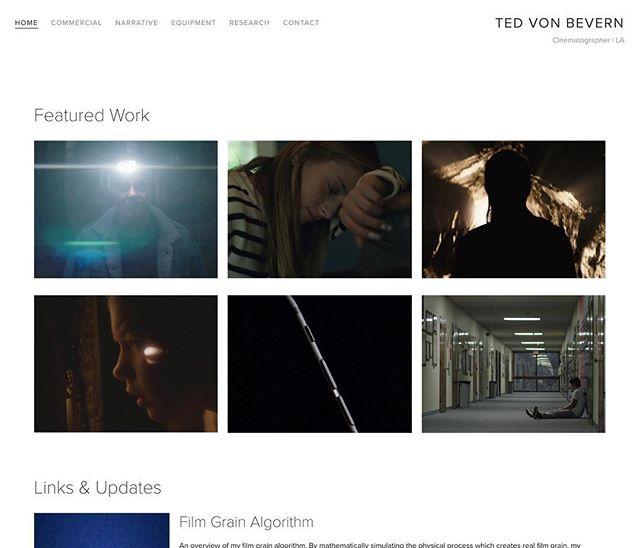New website! Link in profile, or tedvb.com