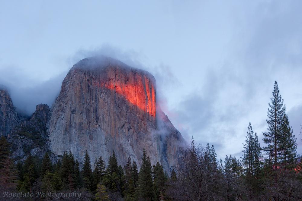 El Cap on Fire