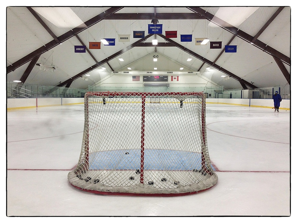 "A clean sheet of ice awaits hockey players at the ""Camel Dome"" at Connecticut College in New London, Conn., shot October 3, 2014."