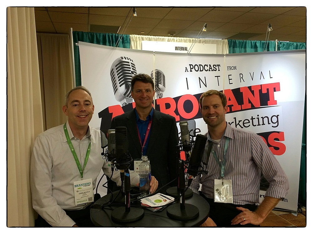 Three Arrogant Healthcare Marketing Bastards at SHSMD: Chris Bevolo, Jim Rattray and Robert Prevost.