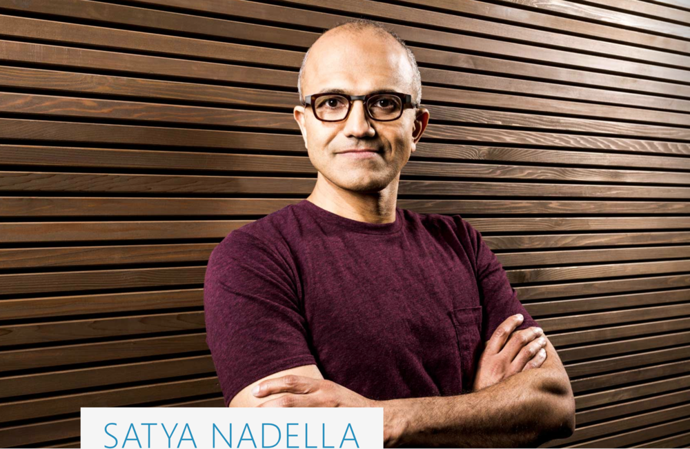 Satya Nadella, new CEO of Microsoft. Image Source:  Microsoft.