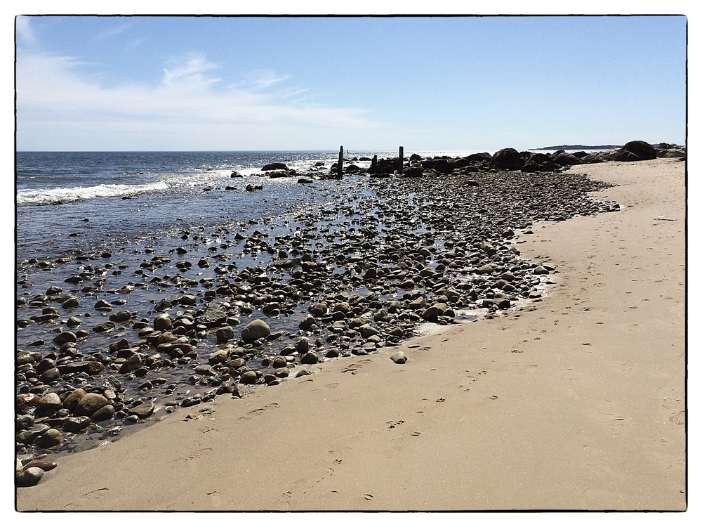 The beach along Napatree Point in Westerly, R.I., shot on April 12, 2014.