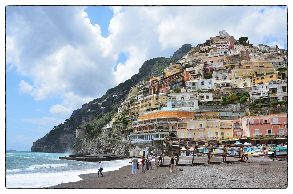 The beach at Positano, Italy, shot May 23, 2013.