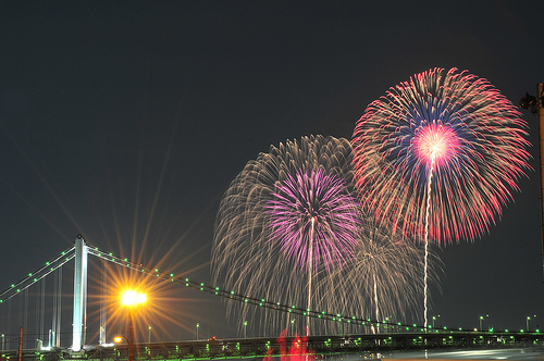 Tokyo Bay Fireworks—Creative Commons license image by inoc