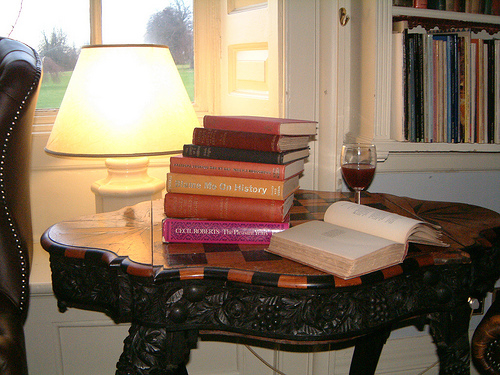 Wine and Books by Ben Coulsen, used under Creative Commons License