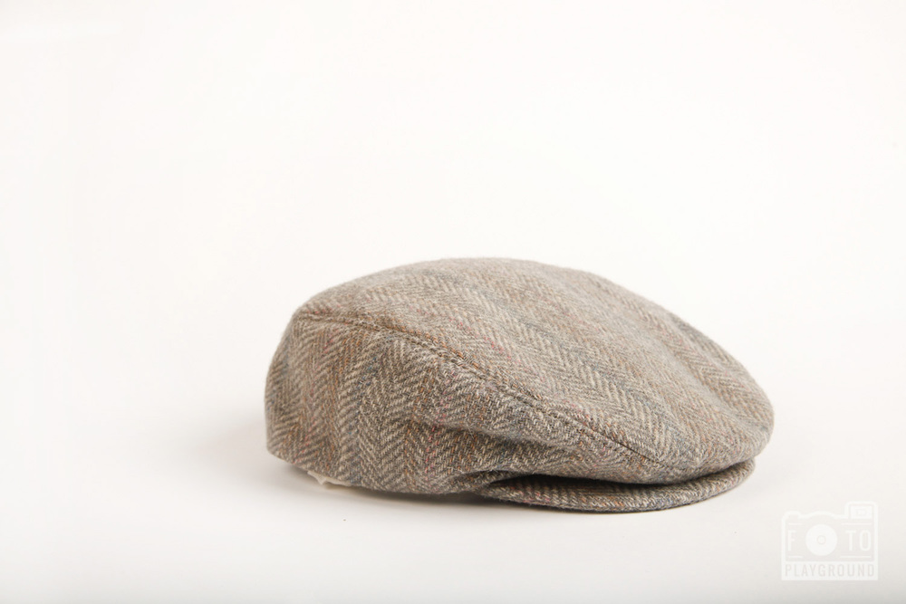 vintage gray wool cap