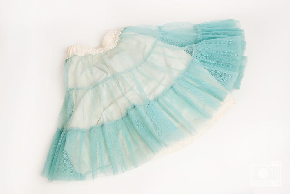 vintage teal petticoat