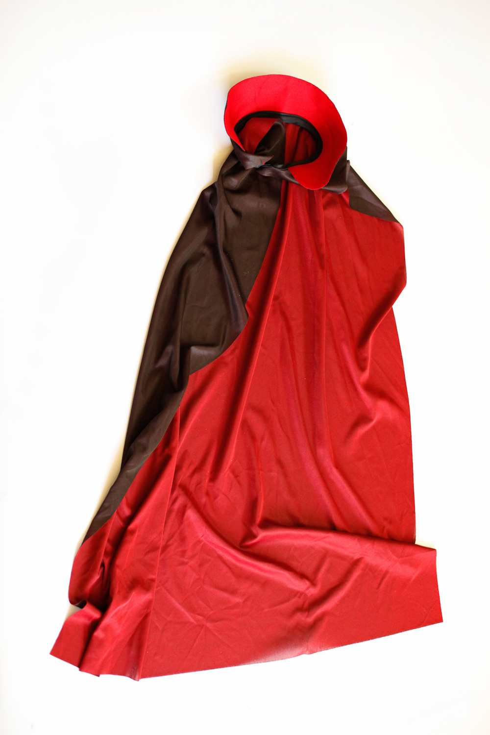 red and black cape (child size)