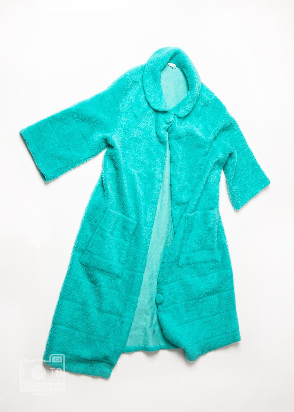 vintage turquoise housecoat