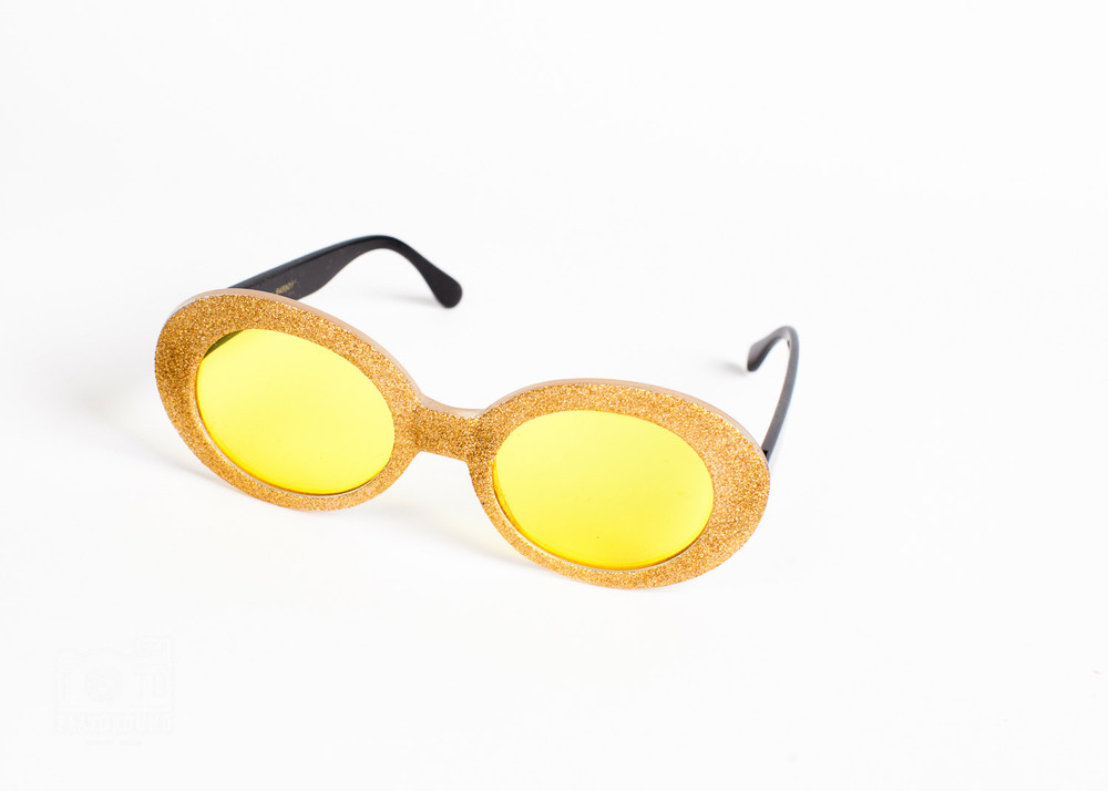 gold glitter glasses