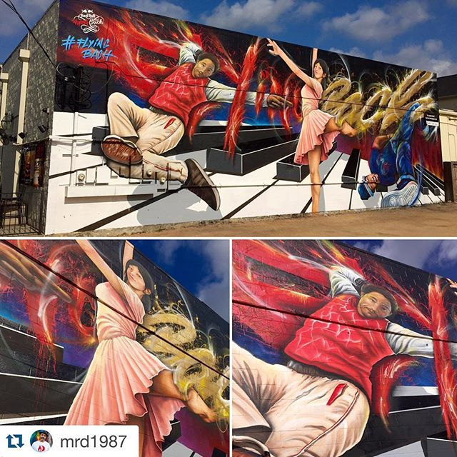 I had a lot of fun helping to paint this mural for @mrd1987 and the #eyefulart crew, I'm super excited to go and see the #flyingbach performance at the Wortham! ・・・ #FlyingBach is one day away , @worthamcenter , classical music meets #hiphop ....... Get your tickets @redbullhou ASAP ...#redbull #mural #midtownhouston #houstonmural with the #eyefulart crew  @the_lokote_one @blipworkshop  @liquitexofficial #mrd1987 #shotbar #dogwood #specs #houstonfirst @amibensman @kittykatvaughan @jennyjonesing @rick_rbtx @sanantoniobear