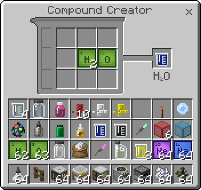 Minecraft Education Edition - Compound Creator - 1 of 4 new tables in Minecraft