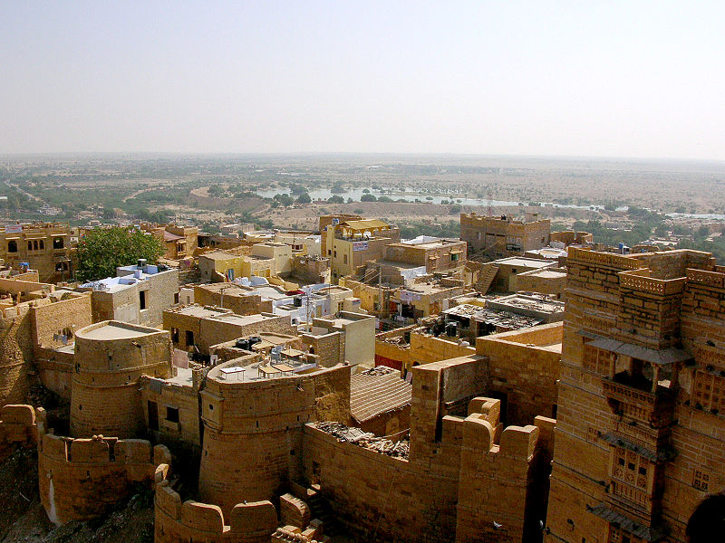 My trip to Jaisalmer also inspired the abandoned desert city.