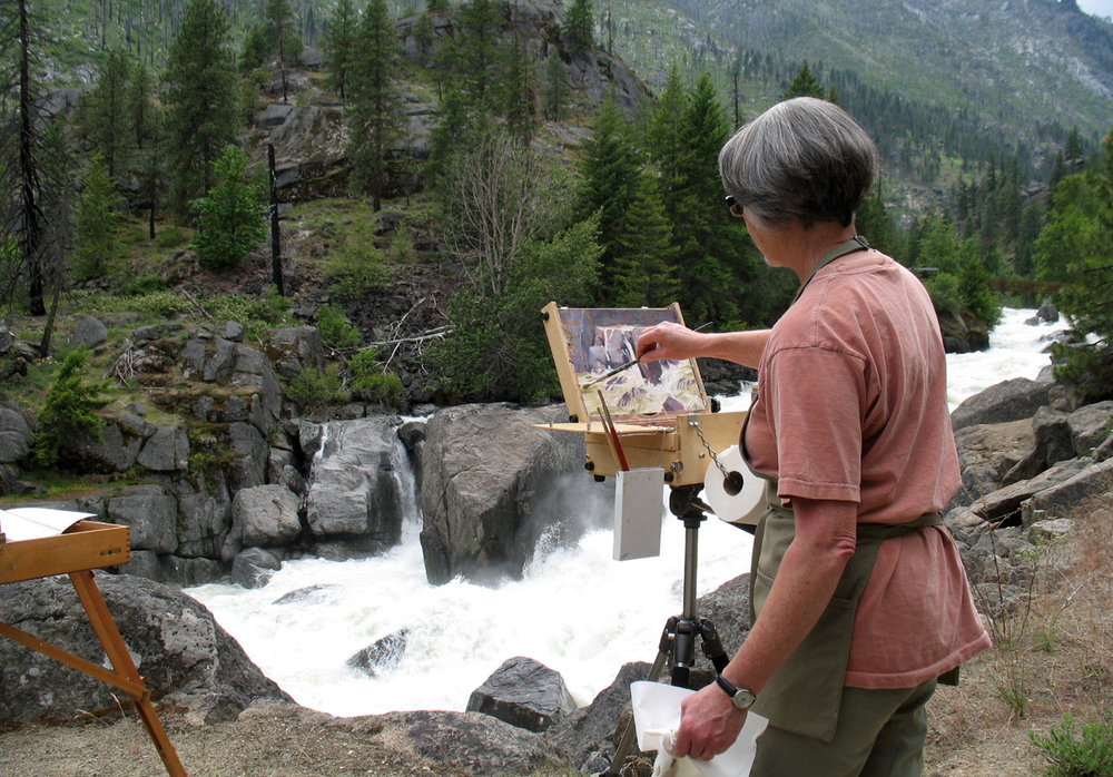Painting on Icicle Creek, Leavenworth, WA