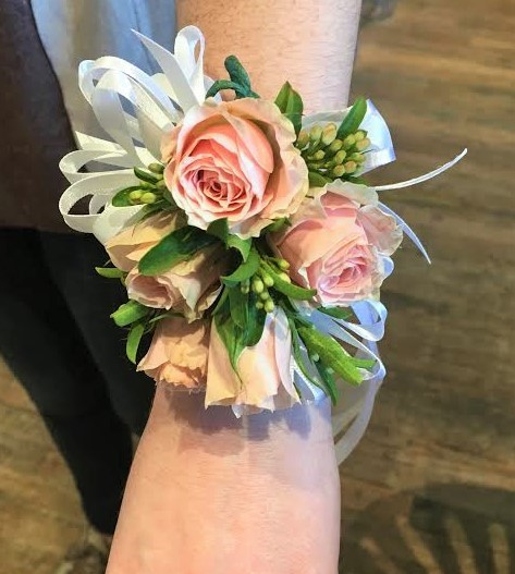 Wrist corsage (starting at $28)