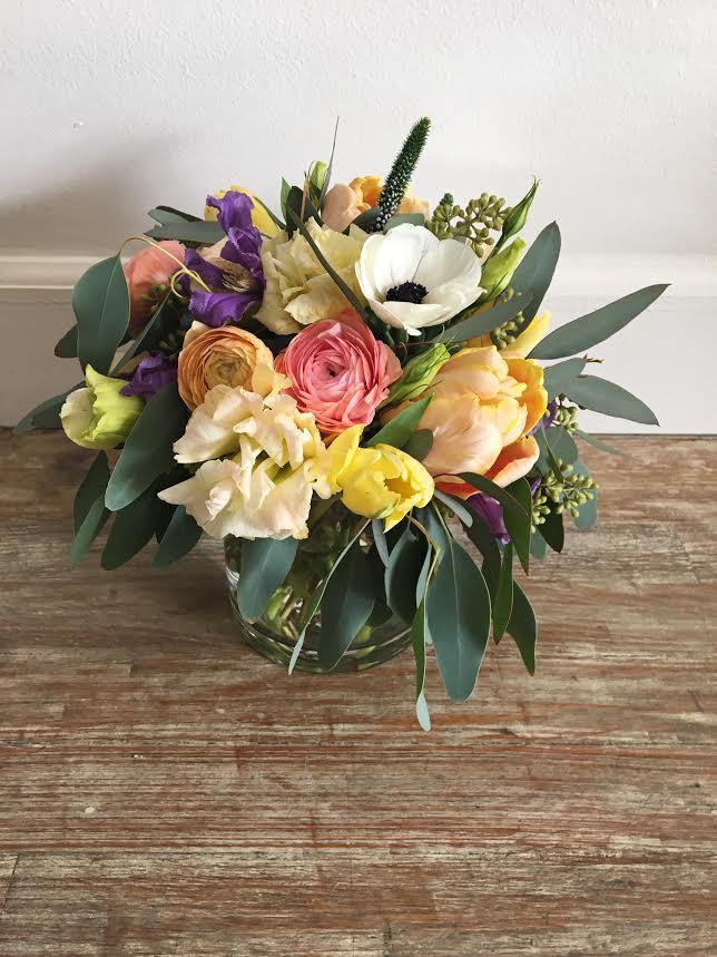 $65 arrangement in a glass vase