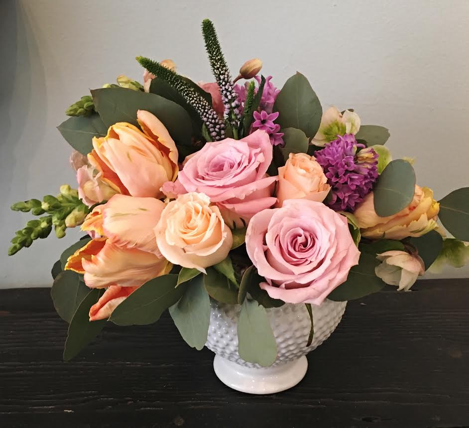 $75 arrangement in a unique vase