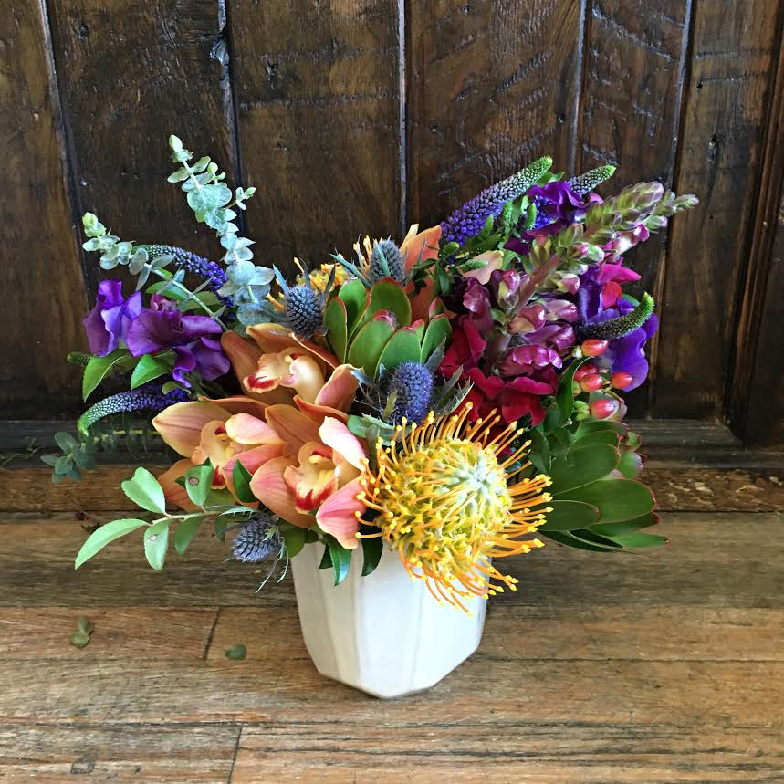 $85 arrangement in a unique vase