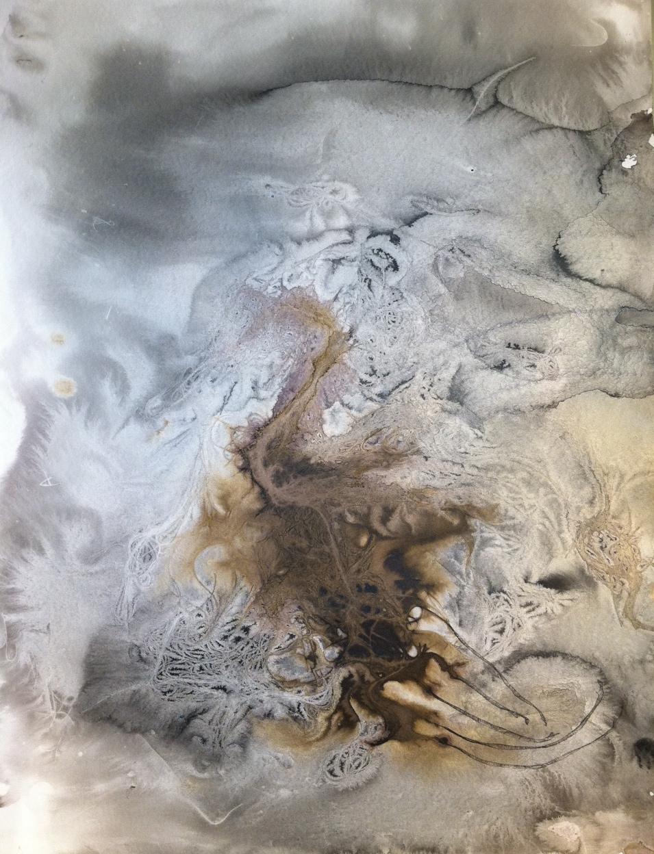 Hair Print (grey one)