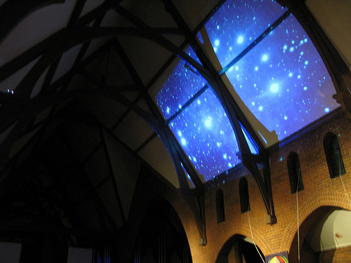 Ceiling installation at St Thomas's Anglican Church, for  Through a Glass Darkly , Nuit Blanche Independent Project 2009.