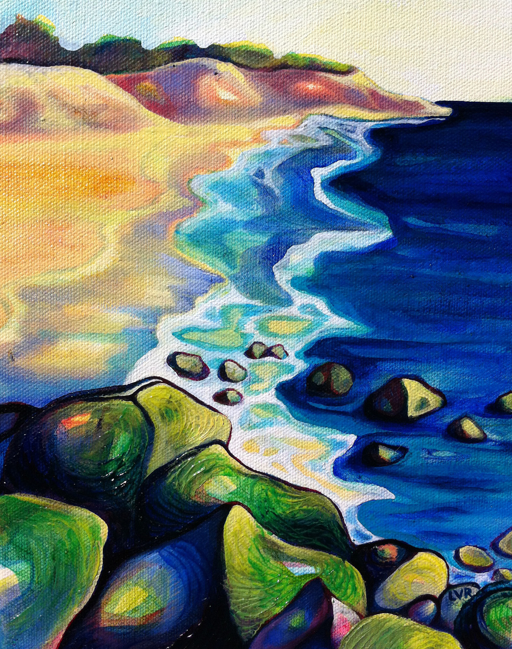 "Ebbing Tide   oil on canvas  10"" x 8"""